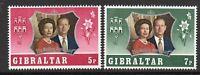 Gibraltar 1972 Silver wedding MNH mint set stamps