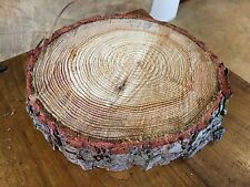 Christmas cake board, Table Centre Piece real rustic log stand  Approx 10""