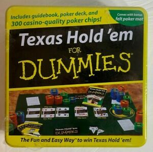 Fundex Texas Hold'em For Dummies in Tin Poker Card Game - D1