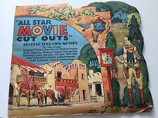 RARE    VINTAGE: ALL STAR MOVIE CUTOUTS Paper Doll Book By Edwin Eberman (1933)