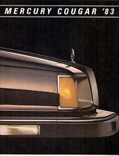 Mercury Cougar 1983 USA Market Sales Brochure Standard LS