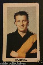 1949 KORNIES VICTORIAN FOOTBALLERS CARD GEOFF SPRING RICHMOND CARD # 67 VFL