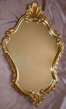 Miroir vintage années 60 / 70 en bois doré - style Louis XV / Rocaille coquille