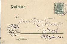 Reich Brief ( Germania Ganzsache ) Keeken > Wesel vom  26.10.1907