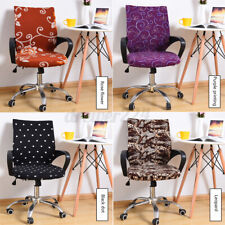 Office Chair Cover Protector Stretch Rotating Armchair Seat Slipcov
