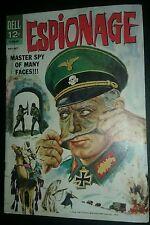 Espionage #1 (May-Jul 1964, Dell Comics) master spy of many faces movie war book