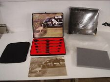 Snap-On Dale Earnhardt Commemorative 5pc 24k gold Wrench Set display case N-I-B