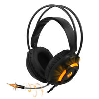 3.5mm Computer Headset Gaming with Microphone LED Headphone for PC Laptop