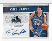 2016-17 Tom Gugliotta #/149 Auto Panini Excalibur Timberwolves