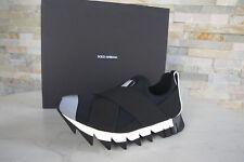 Dolce & Gabbana talla 36,5 sneakers Slipper slip-Ons zapatos negro nuevo PVP 395 €