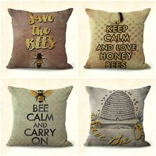 US SELLER, 4pcs throw pillows for leather couch cushion covers hive bee