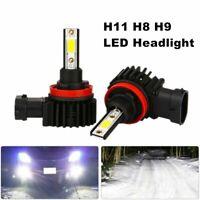 2X H8/H9/ H11 LED Headlight Bulbs Conversation Kit Low Beam headlamp Fog Driving