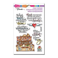 Travel Home Suitcases CLEAR Unmounted Rubber Stamp Set STAMPENDOUS SSC1254 New