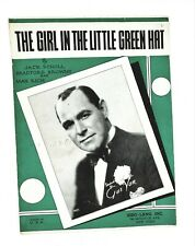 The Girl in the Little Green Hat Sheet Music 1933 Gus Van Jack Scholl Max Rich