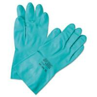 Ansell 12371858 Sol-vex Sandpatch-grip Nitrile Gloves, Green, Size 8