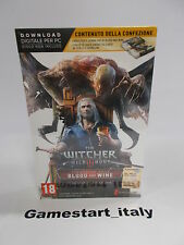 THE WITCHER III 3 WILD HUNT BLOOD AND WINE LIMITED - PC - NEW - VERSIONE ITA