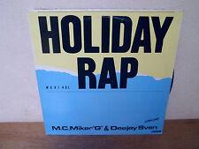 "LP 12"" MAXI - M.C. MIKER ""G"" & DEEJAY SVEN - Holiday rap - VG+/VG"