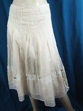 COP COPINE Taille 40 Superbe jupe doublée crème blanche en coton ARMINE skirt