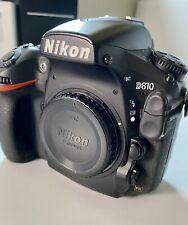 Nikon D810  DSLR camera Low Shutter Count 47.618