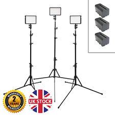 Kit de cabeza de luz LED 3 con baterías 3x portátil Zapata Luz Soportes constante