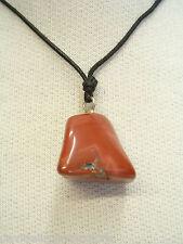 Ciondolo in ARGENTO 925 con DIASPRO rosso naturale e girocollo - pietra dura