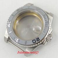 40mm 316L SS Watch Case Sapphire Glass Date Magnifier fit ETA 2836 Movement