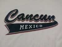 Cancun Mexico Mens T Shirt Size 2XL XXL White Sleeveless Crewneck 100% Cotton