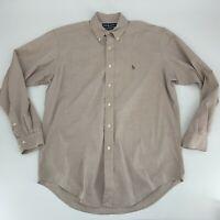 Ralph Lauren Polo Mens Yarmouth Button Down Dress Shirt Size 15.5 34/35 Oxford