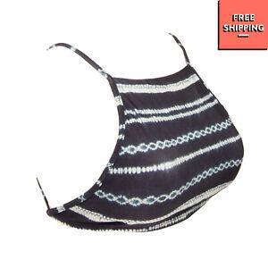 VIX PAULA HERMANNY Bikini Top Size L Patterned Removable Pads Strappy Back