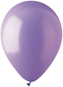 "12 - 96 pc 12"" Solid Lavender Latex Balloons Party Decoration Birthday Wedding"
