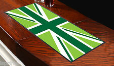 Green Union Jack Bar Runner Ideal for Any Occasion Pubs Clubs Shops L&s Prints