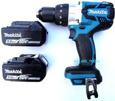 "New Makita 18V XPH07 Brushless 1/2"" Hammer Drill, (2) 5.0 AH BL1850B Batteries"