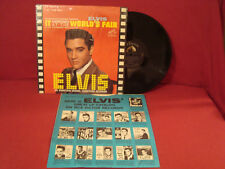 ELVIS PRESLEY IT HAPPENED AT THE WORLDS FAIR SILVER RCA LABEL VERY CLEAN VG++ LP