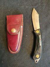 """Vintage EKA Sweden Normark Super Swede Folding Pocket Knife 3 1/2"""" w/ case"""