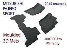 To suit Mitsubishi Pajero Sport 3D Rubber Floor Mats