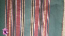 Home Decor Heavy Upholstery Multi-Color Stripe Green Fabric by the Yard