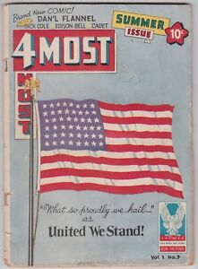 4Most Vol 1 #3 G- 1.8 Dick Cole Edison Bell America Patriotism United We Stand