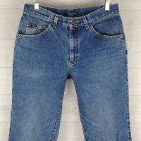 Lee High Rise Womens Size W31 in x L30 Blue Medium Wash Straight Leg Mom Jeans