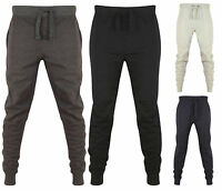 New Mens Slim Fit Jogging Bottoms Skinny Joggers Tracksuit Fleece sweat Pant Gym