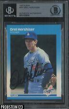 1987 Fleer #441 Orel Hershiser Signed AUTO Los Angeles Dodgers BGS BAS