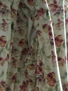 Laura Ashley Gosford Cranberty curtains, 64 x 72 inches, very good condition.