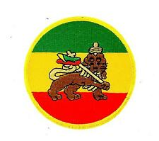 Patch ecusson brode thermocollant backpack rasta reggae ethiopie lion judah