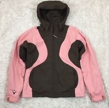 BURTON Winter Snowboard Ski Coat Jacket Brown Pink Womens Small S