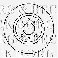 BBD4181 BORG & BECK BRAKE DISC PAIR fits Alfa 166 2.0i,2.5i,3.0i 1999-