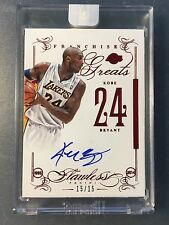 2013-14 Panini Flawless Franchise Greats Ruby Kobe Bryant Autograph Serial#15/15