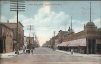 Hibbing MN Third Ave c1910 Postcard