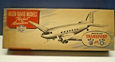 ALLEN DAVID MODELS DOUGLAS DC-3 WOOD MODEL KIT W/METAL PARTS CIRCA 1940