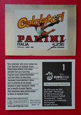 PANINI EURO 2008 - BADGE STAMP/FRANCOBOLLO N.1 - NEW MINT