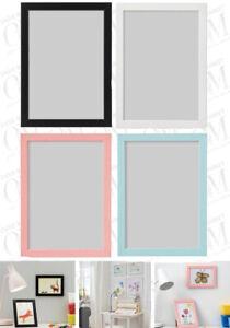 IKEA FISKBO Photo Frame Picture Blue White Pink Black Children Room Decor A4