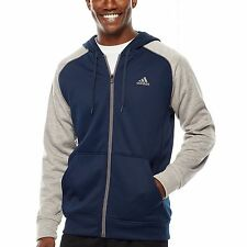 NEW ADIDAS MEN'S ORIGINALS TECH FLEECE  F/Z HOODED SWEATSHIRT FULL ZIP JACKET M